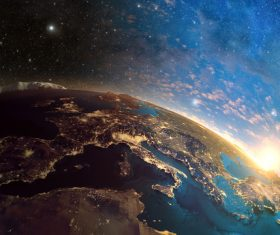 Beautiful planet Stock Photo 06