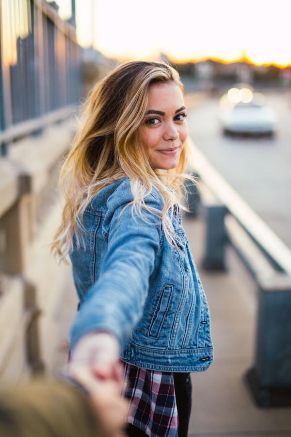Beautiful young caucasian woman Stock Photo