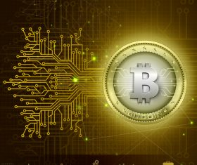 Bitcoin business infographic vector template 09