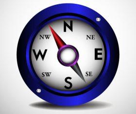 Blue compass vector illustration
