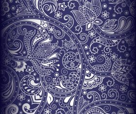 Blue decor pattern design vector