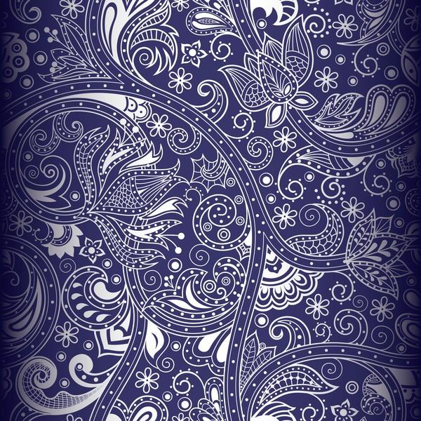 Blue decor pattern design vector