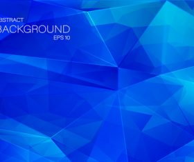 Blue geometric shapes abstract vector background