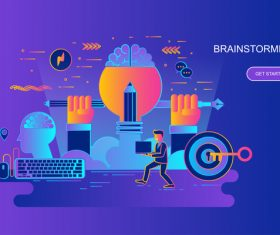 Brainstorming design concept vector