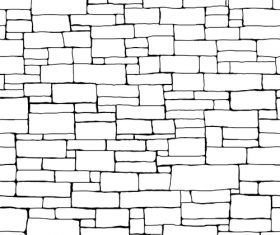 Brick wall hand drawn background vector 01