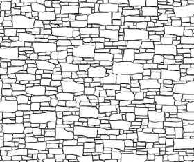 Brick wall hand drawn background vector 04