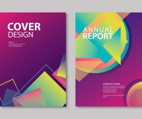 Brochure template vector design 01