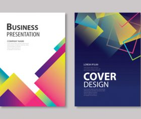 Brochure template vector design 02