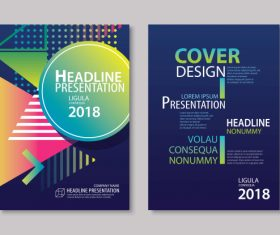Brochure template vector design 04
