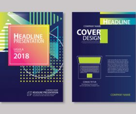 Brochure template vector design 05