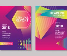 Brochure template vector design 06