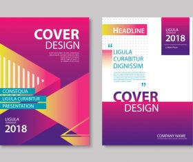 Brochure template vector design 07