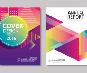Brochure template vector design 08