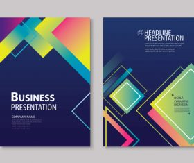 Brochure template vector design 09