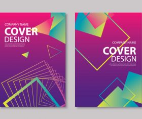 Brochure template vector design 10