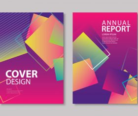 Brochure template vector design 11