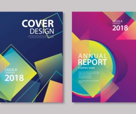 Brochure template vector design 12