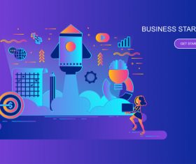 Business startup design concept vector