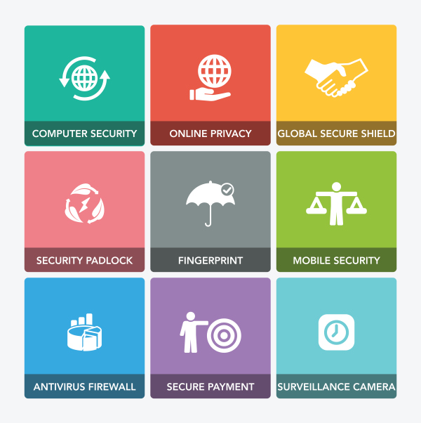 Corporate socail responsibility icons set