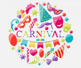 Carnival background design vector material 03