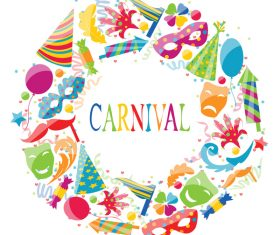 Carnival elements frame vectors 01