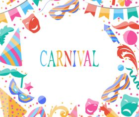 Carnival elements frame vectors 03
