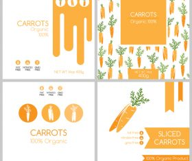 Carrots package box template vector