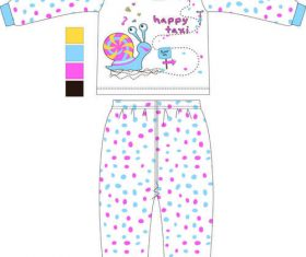 Cartoon animal childrens clothing vector