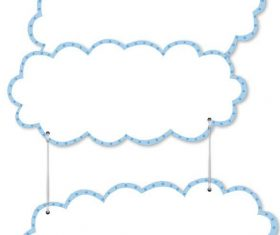 Cartoon cloud frame vector