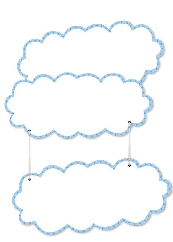 Cartoon cloud frame vector free download