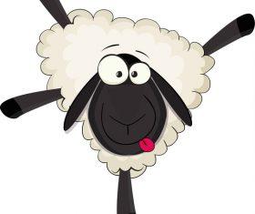 Cartoon cute sheep vector