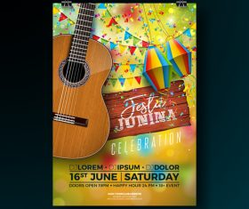 Celebration party flyer template vectors 02