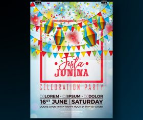 Celebration party flyer template vectors 03