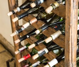 Cellar wines of all ages Stock Photo 01