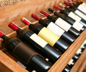 Cellar wines of all ages Stock Photo 03