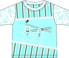 Childrens wear design vector