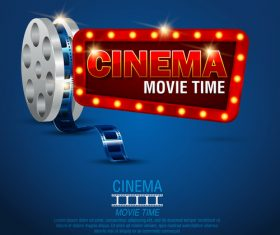 Cinema poster template vectors design 06