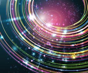 Circle light shiny background vector