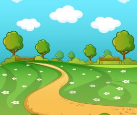 City park landscape vector