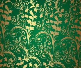 Classic Style Design green decor background vector 01