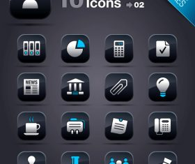 Collection of vector elements picture web design button icon tool business 02