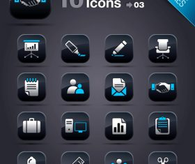 Collection of vector elements picture web design button icon tool business 03