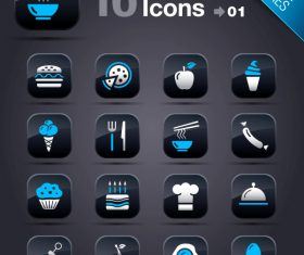 Collection of vector elements picture web design button icon tool food 11_01