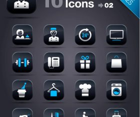 Collection of vector elements picture web design button icon tool hotel 05_02
