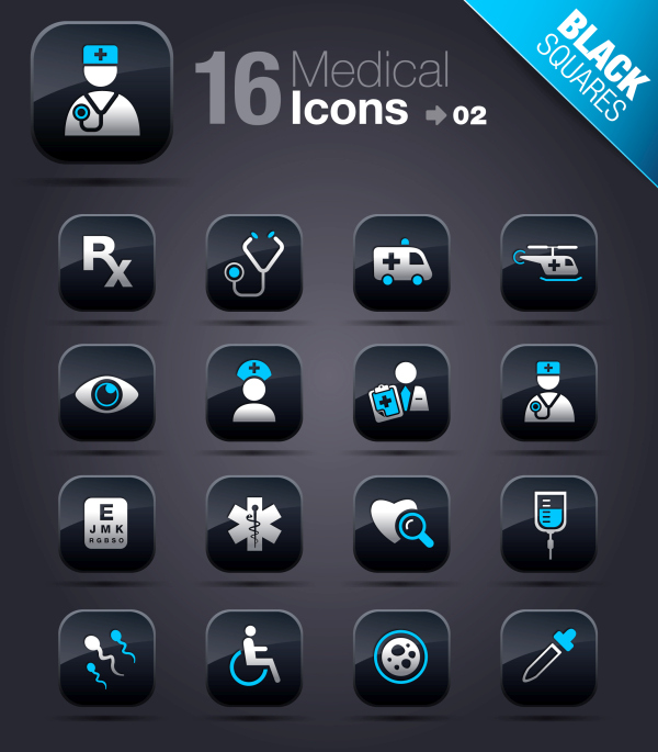 Collection of vector elements picture web design button icon tool medical 05 02