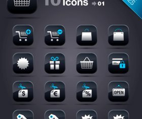 Collection of vector elements picture web design button icon tool shopping 05_01