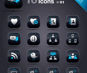 Collection of vector elements picture web design button icon tool social media 05_01