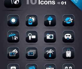 Collection of vector elements picture web design button icon tool vacation 11_01