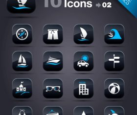 Collection of vector elements picture web design button icon tool vacation 11_02
