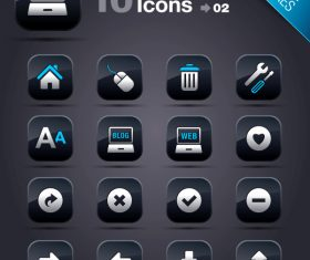 Collection of vector elements picture web design button icon tool web 02